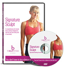 Signature Sculpt - 60-minute dynamo workout DVD that concentrates on toning your muscles using lighter weights, intense exercise sequences, and ballet-inspired positions.